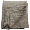 Flax Quilted Linen Coverlet