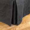 Graphite Linen Pleated Hotel Bedskirt