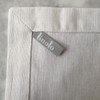 Linen napkin detail photo. Linoto label