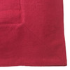 Linoto cranberry tablecloth. Wide mitered corners. Made in USA by Linoto. 100% real linen from flax.