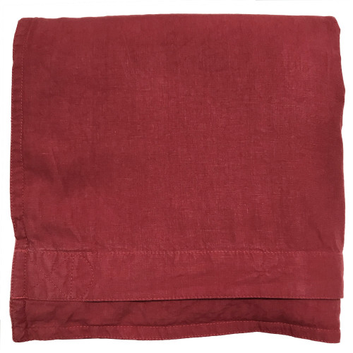queen size cranberry red Italian linen duvet cover on sale