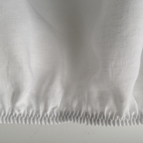 Cream White Organic Belgian Linen Fitted Sheet Made In USA
