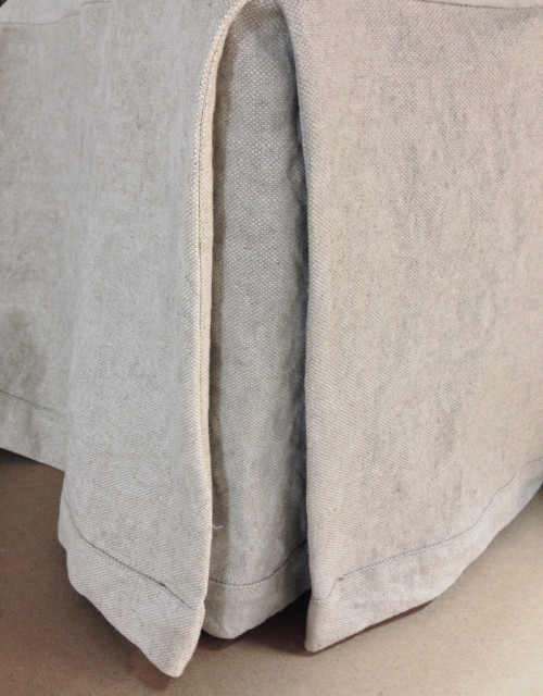 Oatmeal Linen Pleated Hotel Bedskirt