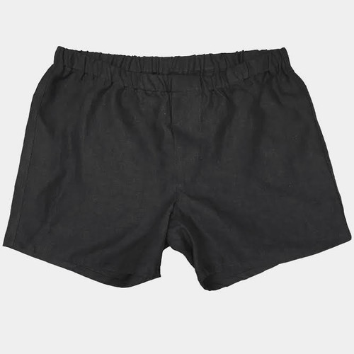 ... Linoto linen boxer shorts in black ... 4c7398903
