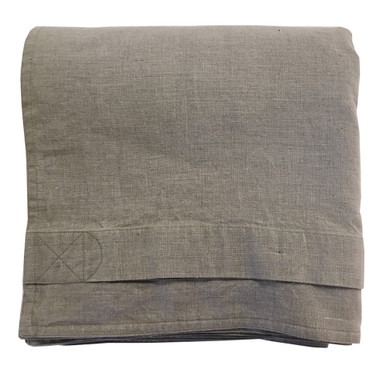 Pure Linen Duvet Cover Hand Made In Usa Buttons Corner Ties