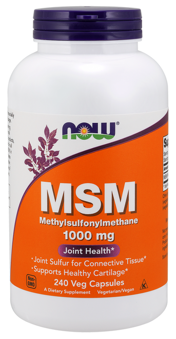 Now Foods MSM 1000 mg 240 Capsules #2121
