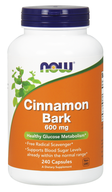 Now Foods Cinnamon Bark 600 mg 240 Capsules