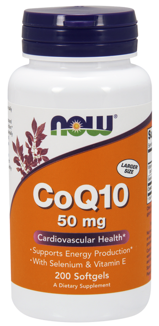 Now Foods Coenzyme Q10 50 mg 200 Softgels #3195