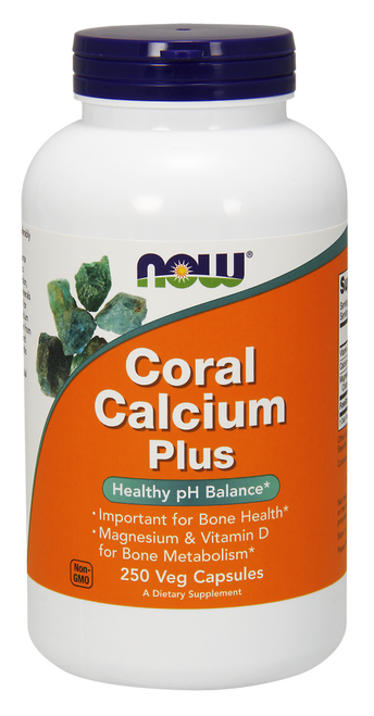 Now Foods Coral Calcium Plus 250 Vegetarian Capsules #1281