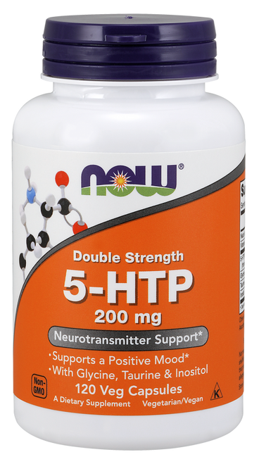 Now Foods Double Strength 5-HTP 200 mg 120 Vcapsules #0111