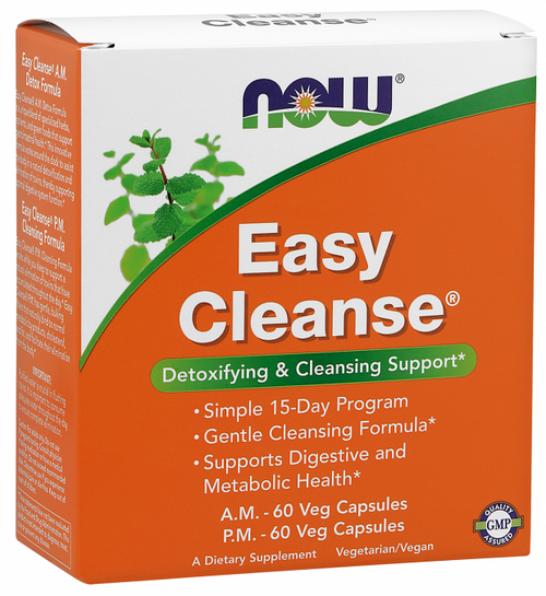 Now Foods Easy Cleanse Kit A.M. 60VC & P.M.60VC #2454