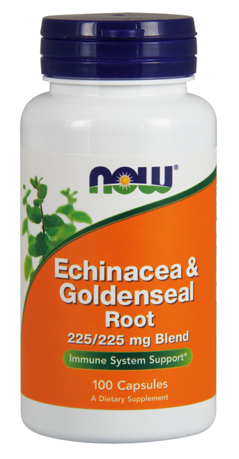 Now Foods Echinacea & Goldenseal Root 100 Capsules #4665