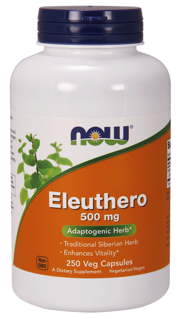 Now Foods Eleuthero 500 mg 250 Capsules #4033