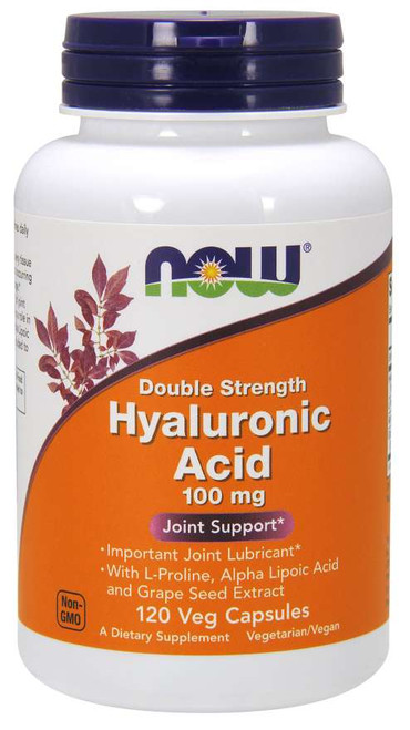 Now Foods Hyaluronic Acid Double Strength 100mg 120 Vegetarian Capsules #3151