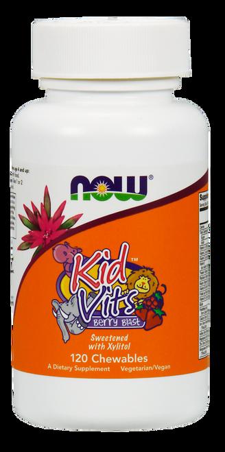 Now Foods Kid Vits Berry Blast Multi Vitamin 120 Chewables #3882