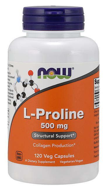 Now Foods L-Proline 500 mg 120 Vegetarian Capsules #0133