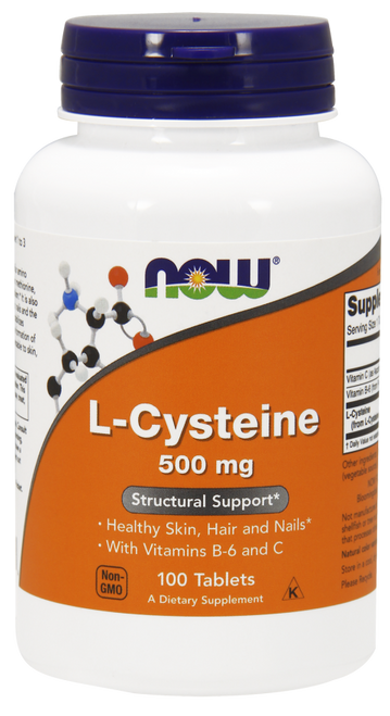 Now Foods L-Cysteine 500 mg 100 Tablets #0077