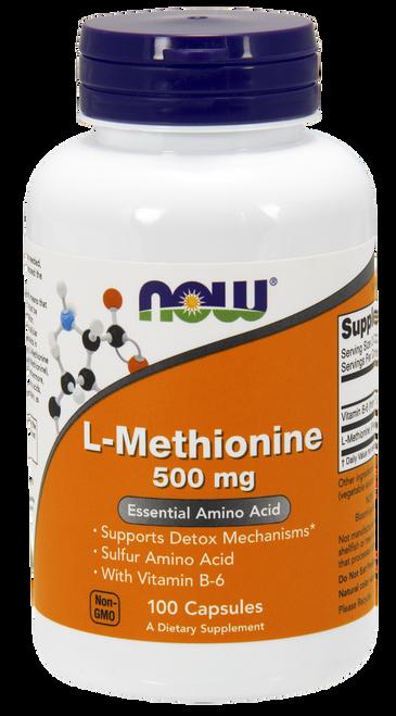 Now Foods L-Methionine 500 mg 100 Capsules #0117