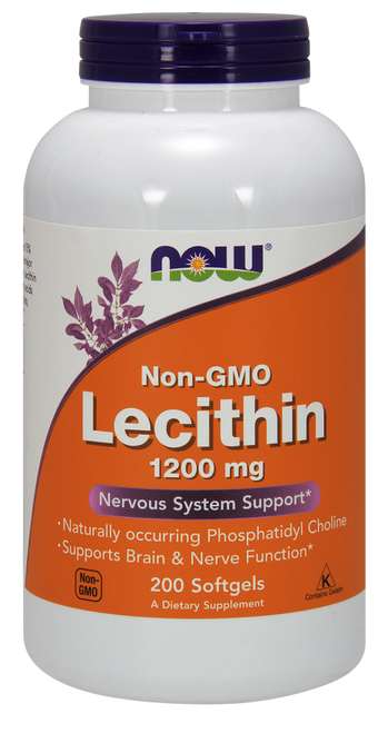 Now Foods Lecithin 1200mg 200 Softgels #2212
