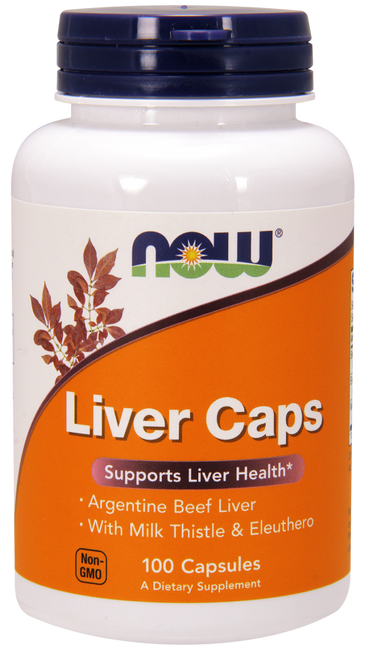 Now Foods Liver Extract with Silymarin, Eleuthero 100 Capsules #2432