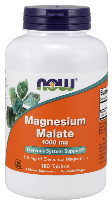 Now Foods Magnesium Malate 1000 mg Vegetarian 180 Tablets #1300