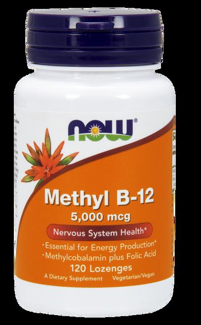 Now Foods Methyl B-12 5000 mcg 120 Lozenges #0493