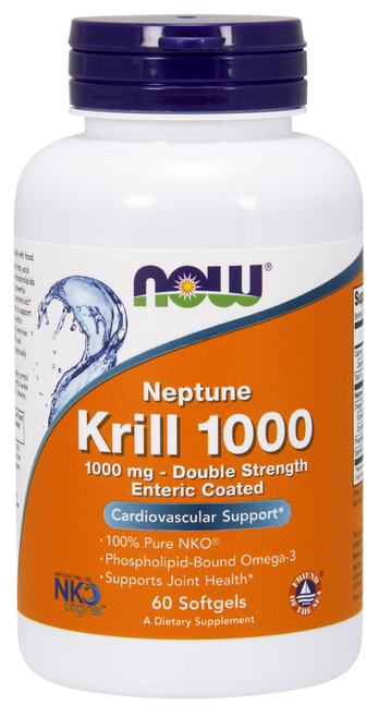 Now Foods Krill Oil 1000 mg 60 Softgels #1627
