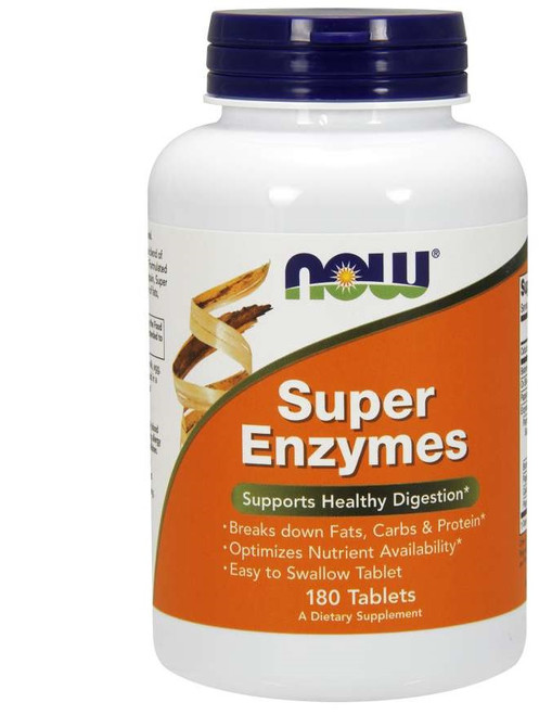 Now Foods Super Enzymes 180 Tablets #2962