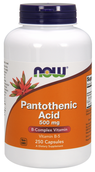 Now Foods Pantothenic Acid Calcium Pantothenate 500mg 250 Capsules #0488