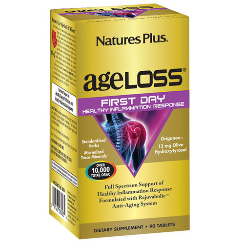Nature's Plus Ageloss First Day Healthy Inflammation Response 90 Tablets #8003