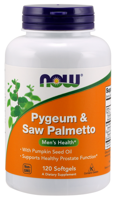 Now Foods Pygeum & Saw Palmetto Pumpkin Seed Oil 120 Softgels #4729