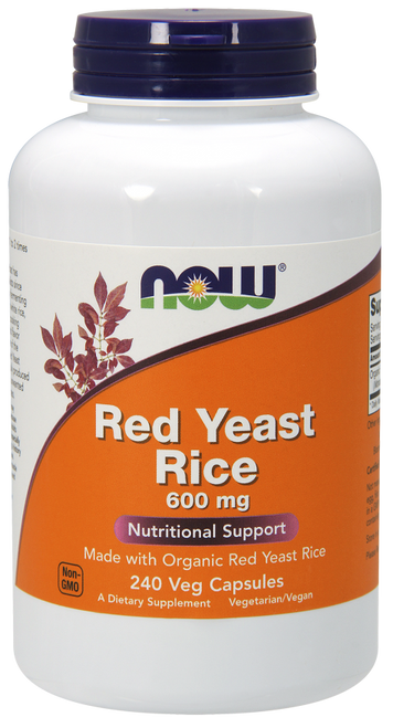 Now Foods Red Yeast Rice 600mg 240 Vegetarian Capsules #3499