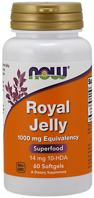 Now Foods Royal Jelly 1000mg 60 Softgels #2560, H&M Herbs & Vitamins