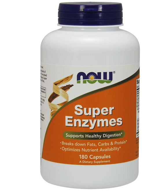 Now Foods Super Enzymes 180 Capsules #2964