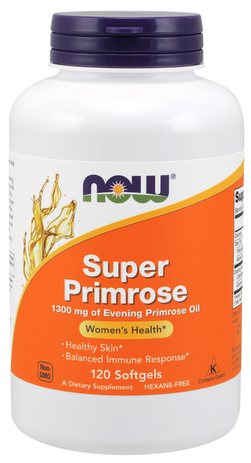 Now Foods Super Primrose 120 Softgels, SKU1757