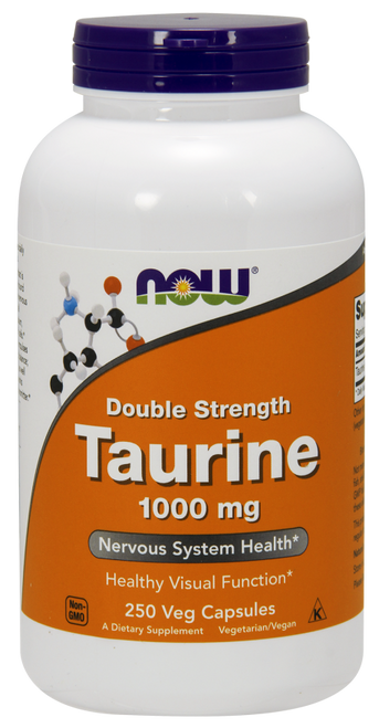 Now Foods Taurine 1000 mg Double Strength 250 Capsules #0143