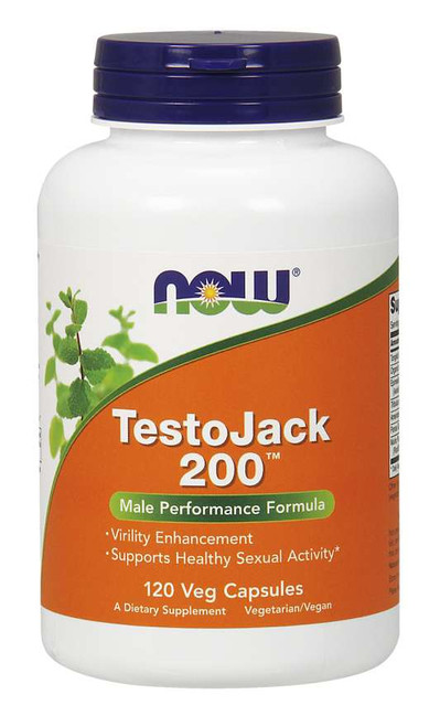 Now Foods TestoJack 200 Extra Strength 120 Veg Capsules, SKU2197
