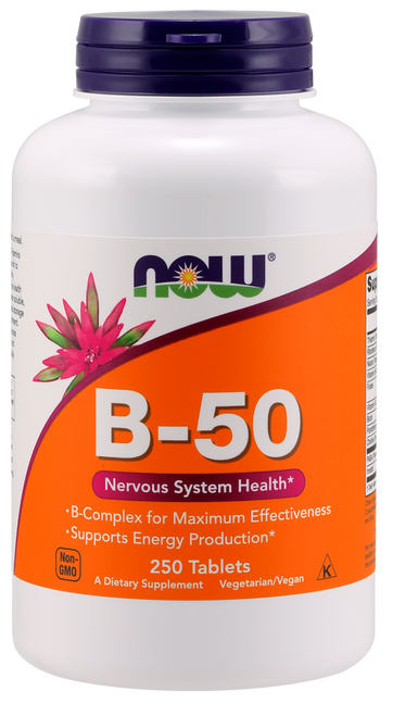 Now Foods Vitamin B-50 250 Tablets, SKU0428
