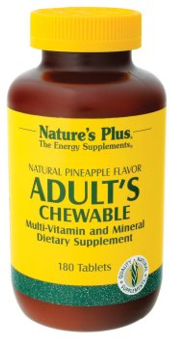 Nature's Plus Adult's Pineapple Flavor 180 Chewable Vitamins