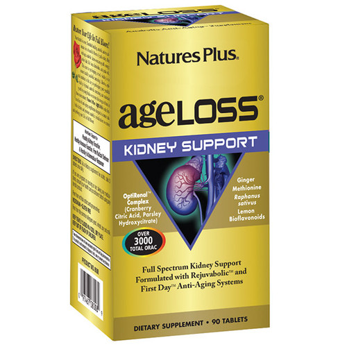 Nature's Plus Ageloss Kidney Support 90 VCapsules #8008
