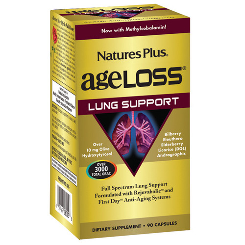 Nature's Plus AgeLoss Lung Support 90 VCapsules #8005