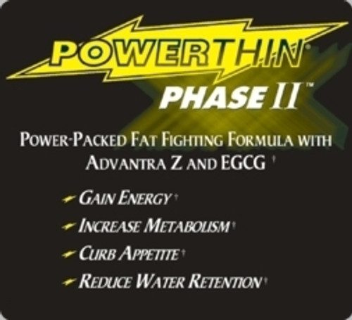 Gold Star Power Thin Phase II Ephedra Free 60 or 120 Capsules