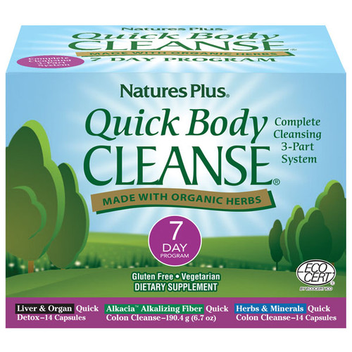 Nature's Plus Quick Body Cleanse Kit 7 Day Program#1112