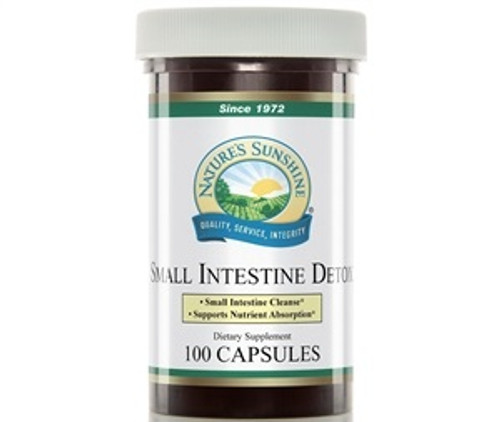 Nature's Sunshine Small Intestine Detox 100 Capsules #848-2, Supports the digestive system, Helps digest proteins, Soothes digestive tissue.