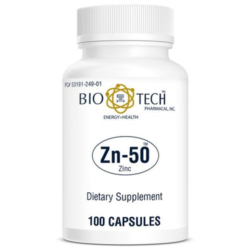 BIO-TECH Zn-50 Zinc Gluconate 50 mg 100 Capsules