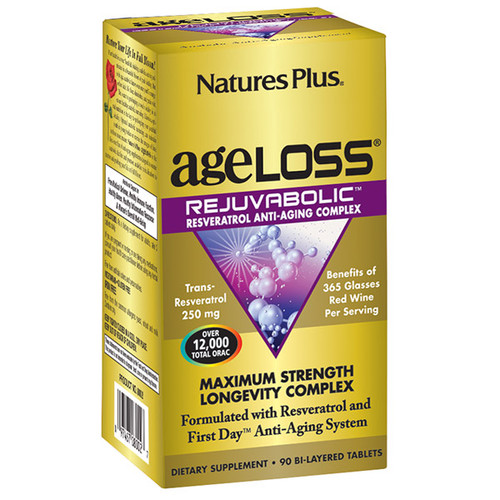 Nature's Plus AgeLoss® REJUVABOLIC Bi-layered 90 Tablets