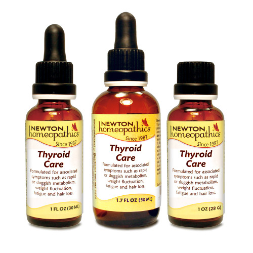 Newton Labs Thyroid Assist 1oz or 1.7oz Liquid or Pellets, symptoms associated with thyroid imbalance such as rapid or sluggish metabolism, weight fluctuation, fatigue and hair loss.