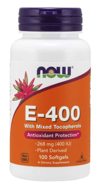 Now Foods E-400, 100 Softgels #0892, H&M Herbs & Vitamins