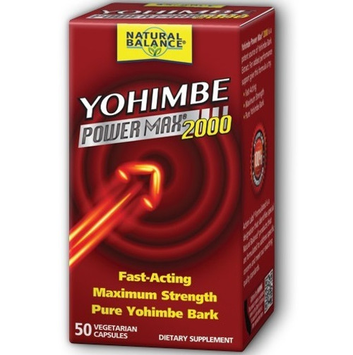 Natural Balance Yohimbe Power Max 2000 - 50 Vegetarian Capsules
