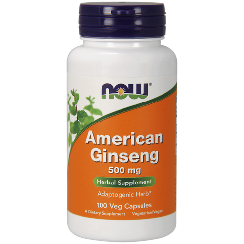 Now Foods American Ginseng 500 mg 100 Capsules #4004, Adaptogenic Herb, quinquefolius has been used by traditional herbalists for centuries.